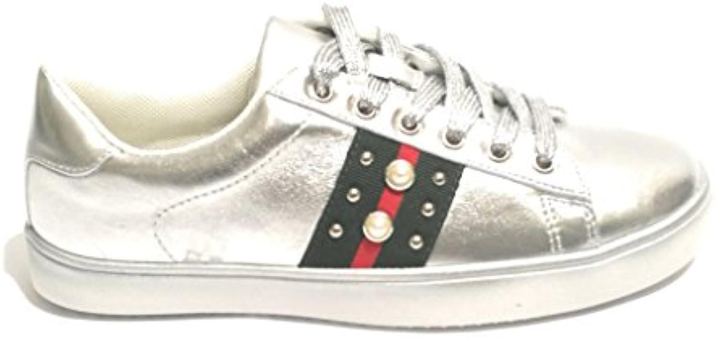 Scarpe Donna scarpe da ginnastica oro&oro in Ecopelle argento verde DS18GG24   Qualità In Primo Luogo    Gentiluomo/Signora Scarpa