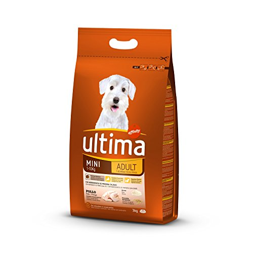 Ultima Cibo per Cani Mini Adulti con Pollo, 3 kg