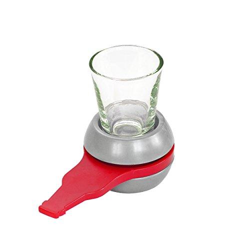 Fairly Odd Novelties Spin-The-Shot Spinning Shot Glas Trinken Neuheit Spiel, Grau