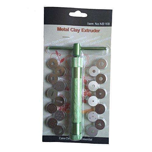 MOLLYSKY Zuckerpaste Extruder mit 20 Tipps Polymer Clay Gun Extrudern Sculpey Sculpting Werkzeug