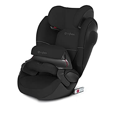 CYBEX Silver Pallas M-Fix SL 2-in-1 Child's Car Seat, For Cars with and without ISOFIX, Group 1/2/3 (9-36 kg), From approx. 9 Months to approx. 12 Years, Pure Black