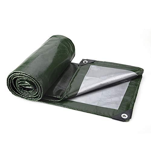 WYF Verdicktes wasserdichtes Tuch für die Außenfalle, wasserdichte Sonnenschutzplane, dicht gewebtes Anti-Aging-Material, grün, 180 g/m², 0,35 ± 0,02 mm (Farbe : Grün, größe : 5×6M) Border Grill 8