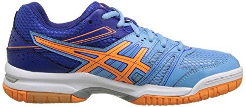 Asics Gel-Rocket 7 Synthétique Chaussure de Tennis Soft Blue-Nectarine-Deep Blue