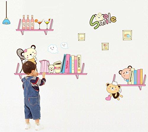 YYH Wandtattoos Tragen Sie die Regal Aufkleber Kinder Zimmer Wanddekoration Wand-tragen Abnehmbare Aufkleber