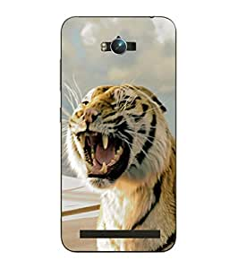 Make My Print Tiger Printed Multicolor Hard Back Cover For Asus Zephone Max