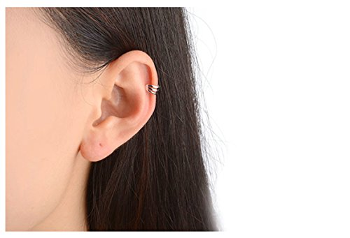 Fake Ear Cuff (Daesar Edelstahl Ohrclip Ohrklemme Non Piercing Fake Cheater Captive Ring Ohrpiercing Helix Cartilage Knorpel Piercing Lippenpiercing Nasenpiercing)