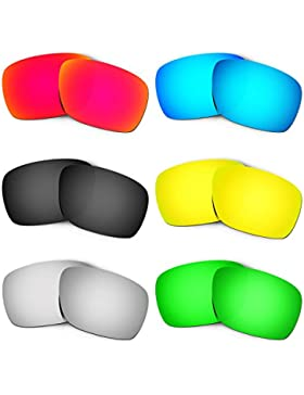 Hkuco Mens Replacement Lenses For Oakley Turbine Red/Blue/Black/24K Gold/Titanium/Emerald Green Sunglasses