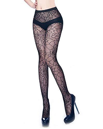 Inception pro infinite Sexy Netzstrümpfe - Spinnennetz-Effekt Farbe Schwarz Kostüm Cross-Dressing Karneval Halloween Cosplay Zubehör - Netzstrümpfe Sexy Kostüm Zubehör
