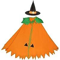 Sharplace Mantello Arancione Zucca Con Cappello Costume Di Halloween  Cosplay Strega Gioco Di Ruolo - Bambino cb5e7c53a81e