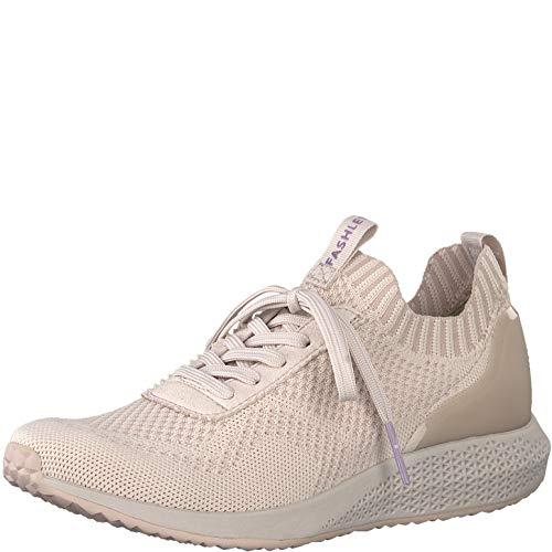 Tamaris 1-1-23714-22 Damen sportlicherSchnürer,Halbschuh,Schnürschuh,Strassenschuh,Sneaker,Schnürer,sportlich,modisch,Freizeitschuh,Wechselfußbett,Light PINK,39 EU Light Pink Patent Schuhe