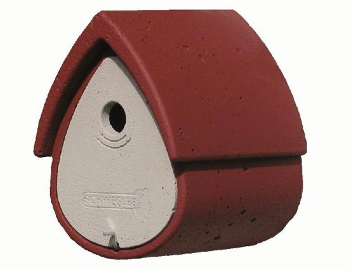Schwegler 00155/9 Nisthöhle Meisenresidenz 1 MR 27 x 19 x 23, rot/grau