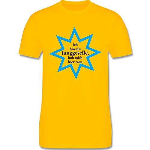 JGA Junggesellenabschied - Junggeselle - Holt mich hier raus - Herren Premium T-Shirt Gelb