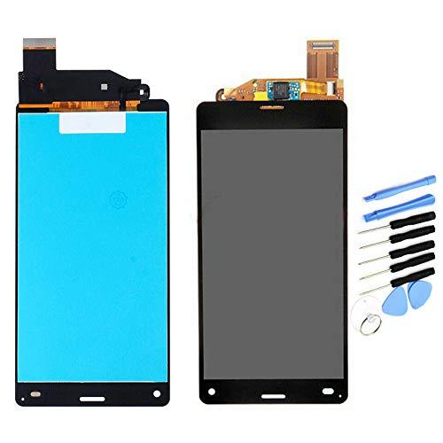 YQZ pour Sony Xperia Z3 Compact Mini D5803 D5833 Remplacement de Vitre Tactile Ecran LCD Assemblé (sans Châssis) (Noir)