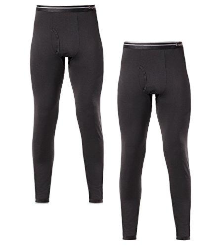 LAPASA Herren 2 Pack Leicht Unterhosen M010 Schwarz XL Ultra-dünne MEHRWEG