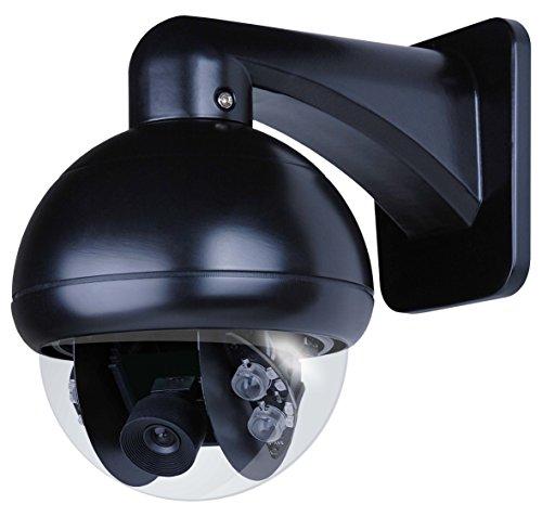 Smartwares DVR722C Kabelloses System Zusatz-Dome-Kamera HD für die Überwachungssysteme DVR724S / DVR728S für den Innen- und Außenbereich, 720 Pixel, 8 W, Schwarz