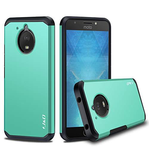 J&D Compatible pour Coque Moto E4 Plus, [ArmorBox] [Double Couche] Coque de Protection Robuste Antichoc et Hybride pour Motorola Moto E4 Plus (5.5'') - [Pas pour Moto E4 (5.0'')] - Turquoise