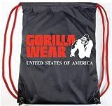 Gorilla Wear Drawstring Bag - schwarz / rot - Bodybuilding und Fitness Accessoires für Damen und Herren