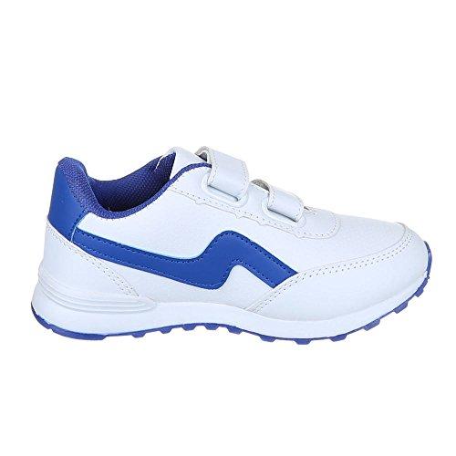Ital-Design, Sneaker bambini Bianco (bianco)