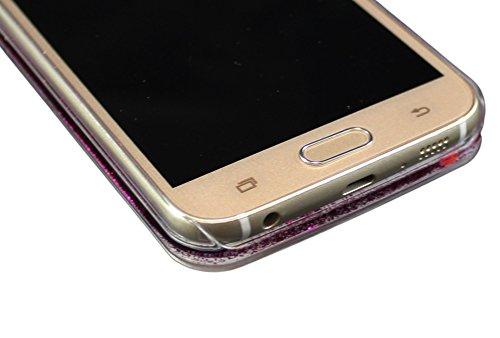 iPhone 66S 6Plus + Samsung Galaxy S6Edge paillettes Boule à neige Téléphones Coque de protection transparent Case Back Cover bumper avec étoiles de la poussière liquide en or rose argent/rose/viole or