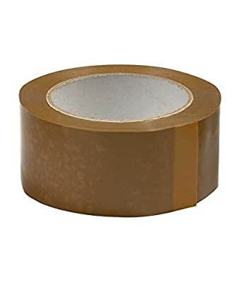 BOPP Brown Self Adhesive Tape, 65 Meter Length, 72 Mm Width, 40 Micron Thickness, 48 Rolls