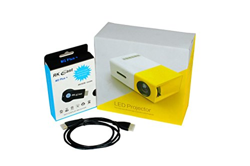 OCTIRA Portable Projector LED LCD 3200 Lumens 1280*800 Support 1080P with FREE Wifi display receiver and HDMI cable