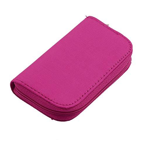 WEIWEITOE 4 Farben sd sdhc mmc cf für Micro sd speicherkarte lagerung Tragetasche Box case Halter Schutz Brieftasche großhandel Shop, Rose rot, (Großhandel Brieftaschen)