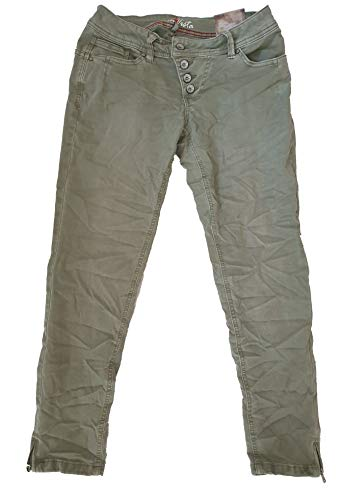 Buena Vista Damen Jeans Malibu 7/8 Stretch Twill 2 Farben Khaki M -
