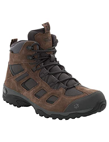 Jack Wolfskin Herren Vojo Hike 2 Texapore MID M Wasserdicht Trekking-& Wanderstiefel, Braun (Dark Wood 5690), 43 EU