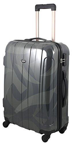 ABS Valigia Tribal taglia L colore grigio nero ABS rigida viaggio valigetta Trolley Case fa. Bowatex