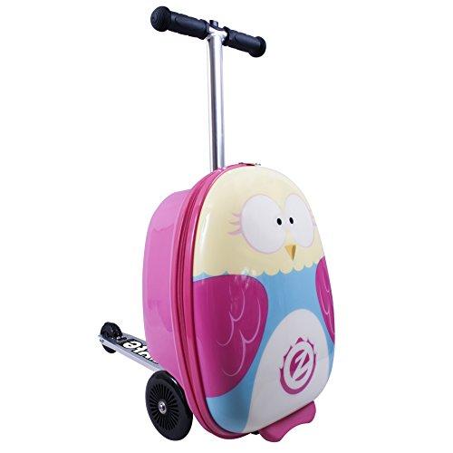 itsImagical 89355 - Flyte Scooter und Case Owl, Koffer für den Roller (Kinder-koffer Roller)