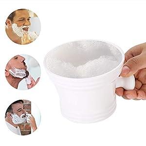 Rasierschale aus Kunststoff, Rasierschüssel aus Kunststoff für Rasierseife weiß
