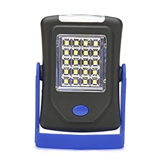 AZX Ultra Bright Led Work Light (3 Leds) Flashlight (20 Leds) Emergence Light Camping Lantern With Magnetic & Hook & Stand For Multipurpose Use Blue