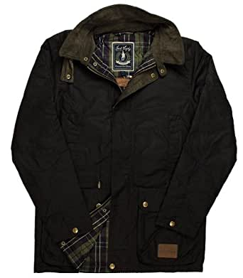 Jack Murphy Sedgefield II Men's Wax Jacket - Size: S, Color: Rich Brown