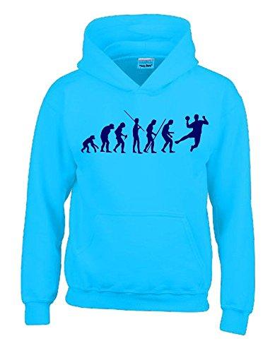 HANDBALL Evolution Kinder Sweatshirt mit Kapuze HOODIE sky-navy, Gr.164cm