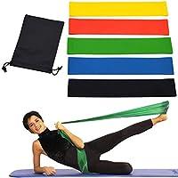 OUTLETISSIMO® Lot de 5 Bandes élastiques Bandes Résistance Bande pour Fitness  Yoga Crossfit f59add32e5a
