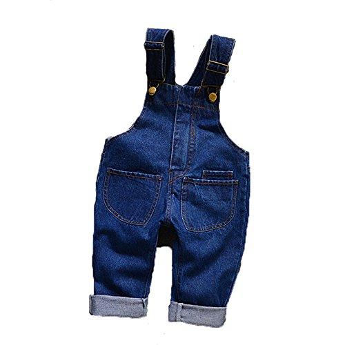 GGBaby@ Latzhose Baby Jungen Mädchen Bamwolle Latzhosen Jeans Hosen Jeanshose Kinder Overall 90
