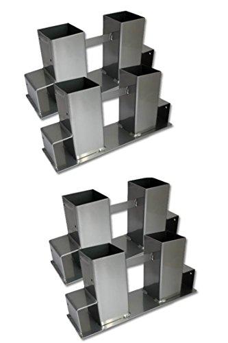 Holz Kamin-ecke (Timtina 4- er Set Holz Stapelhilfe Kamin Brennholz Kaminholz Holzstapelhalter Kaminholzhalter Kaminholzregal (4 Stück, Silber))