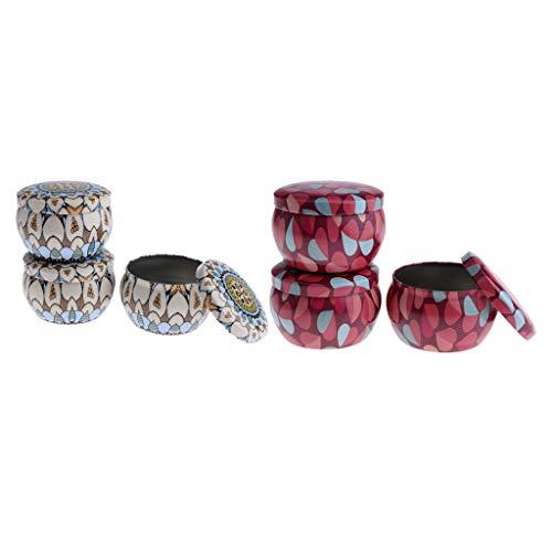 Homyl 6 Stück DIY Cremedose Leere Dosen Schraubdose mit Schraub-Deckel, Leer Döschen Behälter für Kosmetik, Tee Kerzen Aroma und Gewürz (Lipgloss Im Döschen)