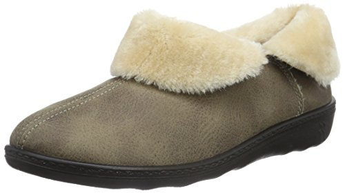 ROMIKA Romilastic 101, Chaussons à doublure chaude femme Beige (Taupe 306)
