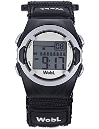 WobL Watch - Children's 8-Alarm Vibrating Reminder Watch, Potty Training Tool (Black)