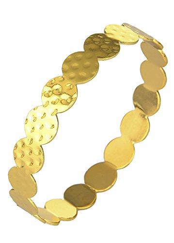 EOZY Bracelet Femme Métal Pois Cercle Valentin Noël Cadeau Anniversaire Or