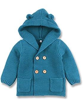 mimixiong Baby-Jungen Strickjacke Cardigan mit Kapuzenpullover Hoodie Sweatshirt