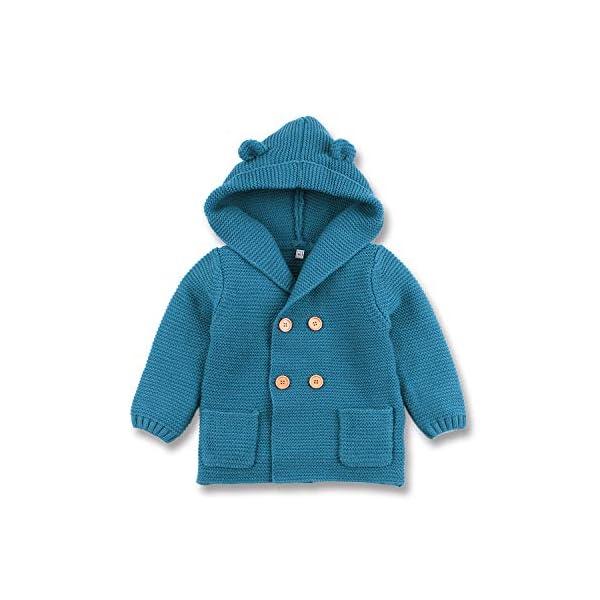 mimixiong Bebé niño de Abrigo Capa Chaqueta otoño Invierno Encapuchados Ropa Caliente 1