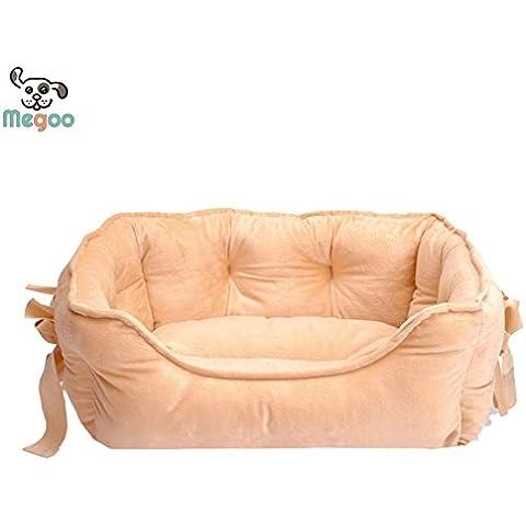 Sypure (TM) 4 colori dell'arco della principessa animale domestico letto morbido pile Cat House calda inverno piccolo cucciolo Letto 48 * 38 cm