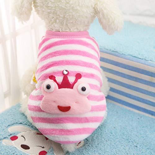 DERNON Winter-Flanell-niedlicher Muster-Hundekatze-Strickjacke-Kleiner Welpe-Haustier-Kleidungs-Katzen-Mantelrosa