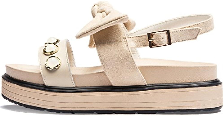 SOHOEOS Sandalias para Mujer Señoras verano Nuevo zapatos con plataforma señoras moda casual Dreamgirl tiras de... -
