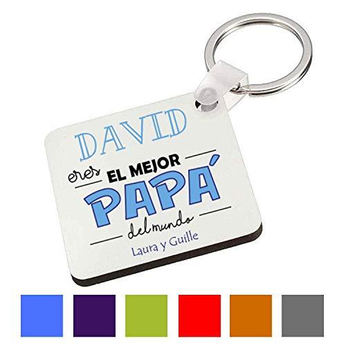 Llavero Personalizado/Cuadrado/Regalo Original/Padre/Papa/Hombre/Chico/Cumpleaños/Original