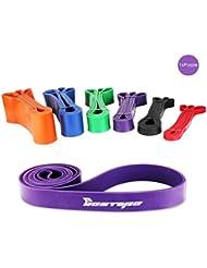 BESTOPE® Bandas de resistencia Kit - Bandas de ejercicios Aparatos de gimnasia Inicio, Servicio pesado Fuerza Entrenamiento fitness para hacer ejercicio (púrpura)