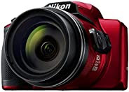 Nikon Coolpix B600 16.0 MP Point-and-Shoot Digital Camera with 60x Optical Zoom (Red)