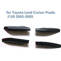 4 piezas de plástico ABS negro para el techo de barras laterales de TYLC2